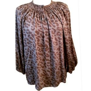 Tucker The Classic Blouse in Cheetah Print